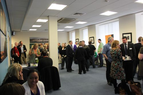 Photo of people networking at Scottish Mobile Learning Day