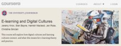 Screenshot of Coursera page for E-learning and Digital Cultures course